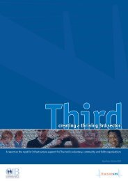 creating a thriving 3rd sector - Thurrock Council for Voluntary Service