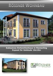 Download Exposé Haus mit 10x10m - Rössner Wohnbau GmbH