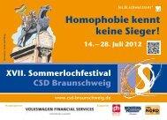 Homophobie kennt keine Sieger! - CSD Braunschweig