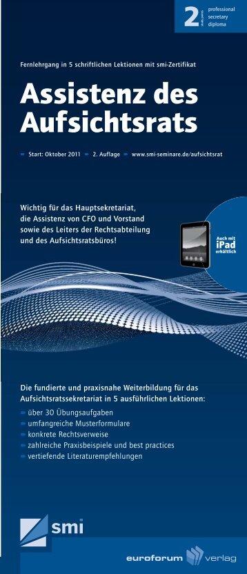 Assistenz des Aufsichtsrats - IIR Deutschland GmbH