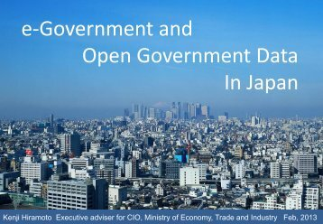 e-Government and Open Government Data In Japan