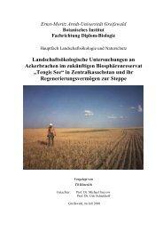 Landschaftsökologische Untersuchungen an Ackerbrachen im ...