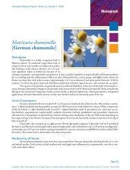 (German chamomile) Monograph - Alternative Medicine Review