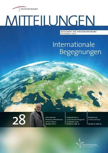 Internationale Begegnungen - Dirigentenforum