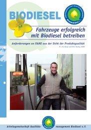 Fahrzeuge erfolgreich mit Biodiesel betreiben - Lohmann Biokraftstoffe