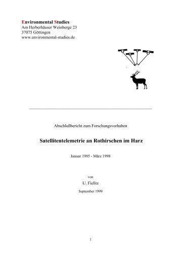 Satellitentelemetrie an Rothirschen im Harz - environmental-studies ...
