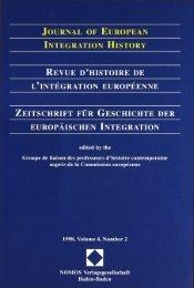 Journal of European Integration History – Revue d'histoire