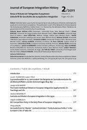 Journal of European Integration History 2/2011 - The European ...