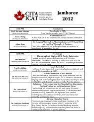 Jamboree Schedule - Canadian Institute for Theoretical Astrophysics