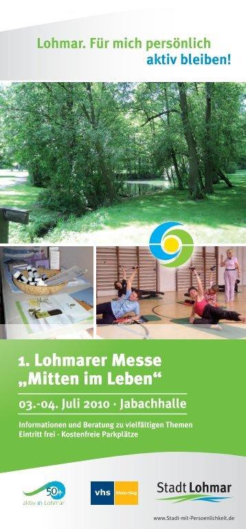 """1. Lohmarer Messe """"Mitten im Leben"""" - Gisela Weigand"""