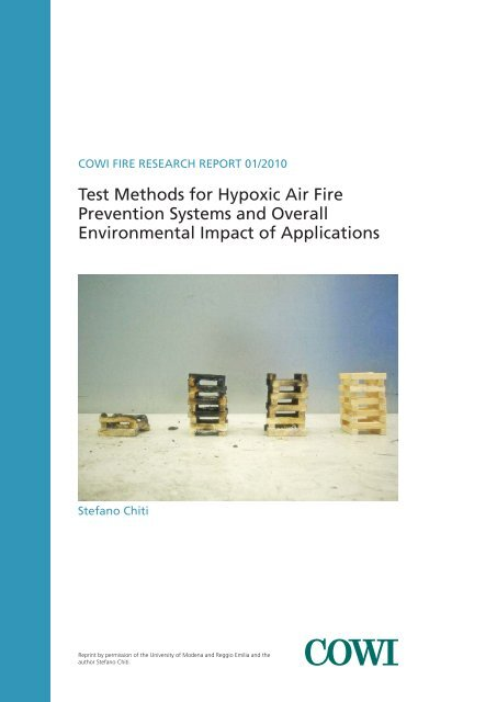 Test Methods for Hypoxic Air Fire Prevention Systems and ... - Cowi