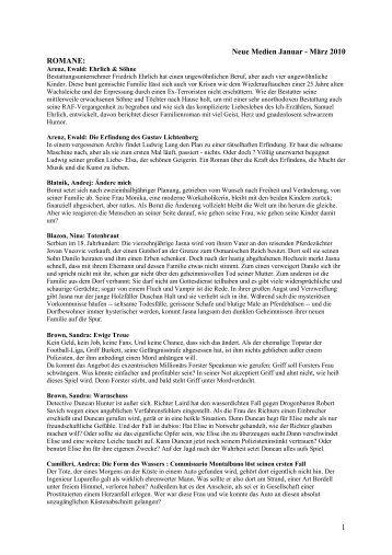 Neue Medien Januar - März 2010 ROMANE: 1 - Lohmen