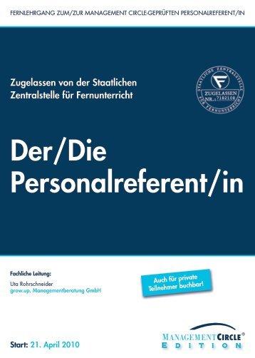 Schriftlicher Lehrgang: Der/Die Personalreferent/in - LOPREX GmbH