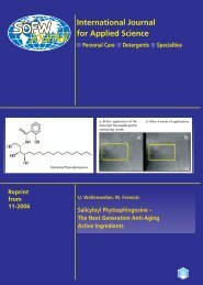 International Journal for Applied Science - Personal Care