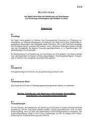 Richtlinien über die  Förderung vereinseigener ... - Stadt Lohne