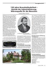 150 Jahre Braunkohlenbrikett - RDB eV