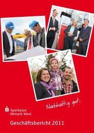 Geschäftsbericht 2011 - Sparkasse Altmark West