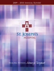 2009 – 2010 Annual Report - St. Joseph's Hospital