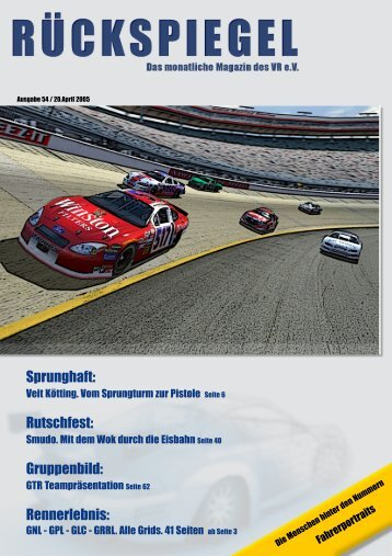 Sprunghaft: Rutschfest: Gruppenbild: Rennerlebnis - Virtual Racing eV