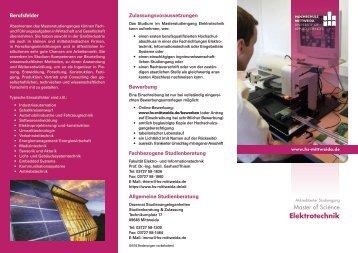 Flyer zum Studiengang (PDF)