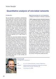 V. Sourjik's Annual Report - ZMBH