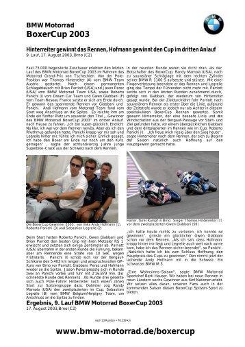 BoxerCup 2003 www.bmw-motorrad.de/boxercup