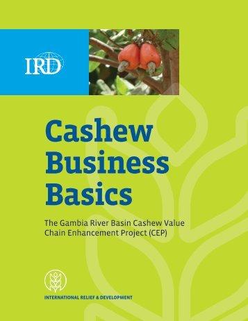 Cashew Business Basics - International Relief & Development