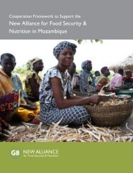 New Alliance for Food Security & Nutrition in ... - Feed the Future