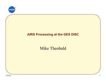 Mike Theobald - AIRS - NASA