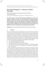 New Public Management – Tendenzen in Zürcher Gemeinden