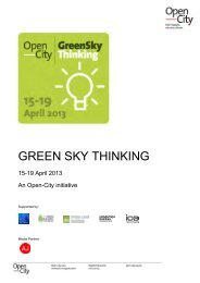 Green Sky Thinking Overview 2013 - Ecobuild