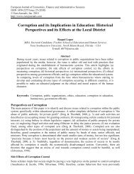 Corruption and its Implications in Education ... - EuroJournals
