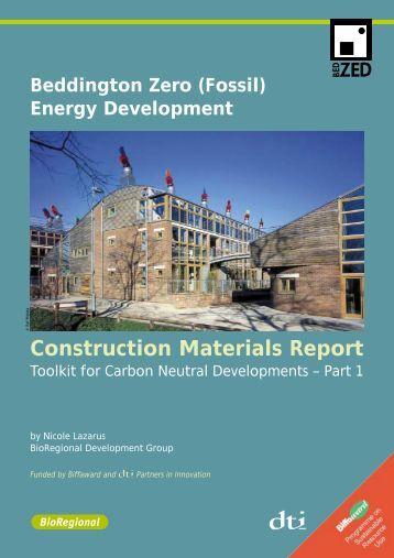 Construction Materials Report - BioRegional