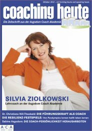 SILVIA ZIOLKOWSKI - Coaching heute