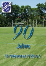 90 Jahre SVW - SV Wahlschied 1920