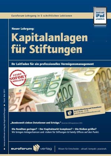 Kapitalanlagen für Stiftungen - IIR Deutschland GmbH