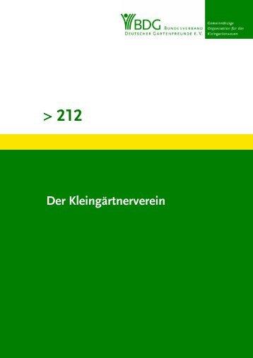 212 - Bundesverband Deutscher Gartenfreunde e. V.