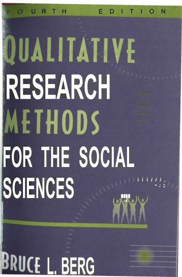 Qualitative research methods for the social sciences - english ...