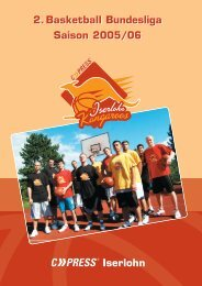 2.Basketball Bundesliga Saison 2005/06 2.Basketball Bundesliga ...