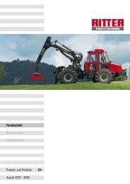 Forsttechnik Bühnentechnik Landmaschinen ... - RITTER Maschinen