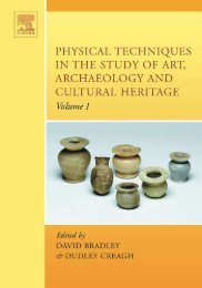 Physical Techniques in the Study of Art, Archaeology