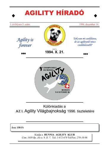 AGILITY HÍRADÓ - Magyar Agility Almanach