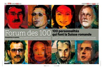 Forum des 100100 personnalités qui font la Suisse romande