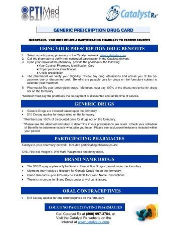 10 Outpatient Prescription Drug Formulary - Optimed Family
