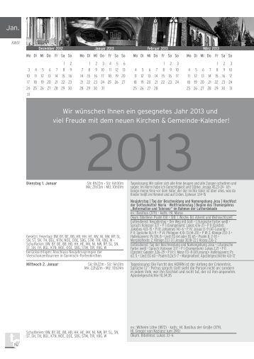 Januar 2013 (2.263,0kb) - Kirchen & Gemeinde-Kalender