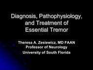 Diagnosis, Pathophysiology, and Treatment of Essential Tremor