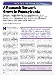 A Research Network Grows in Pennsylvania