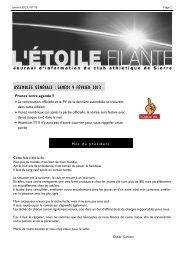 PDF de l'Etoile Filante N°76 de - Club Athlétique de Sierre