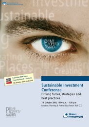 Sustainable Investment Conference - Union Investment