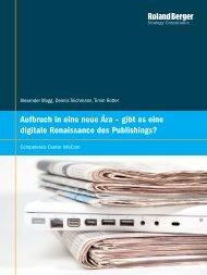 Aufbruch in eine neue Ära - gibt es eine digitale Renaissance des ...
